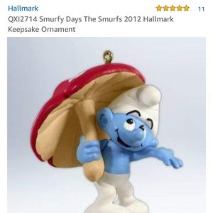 Smurf's Hallmark ornament/figurine
